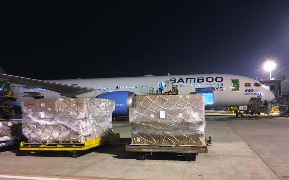 Bamboo Airways chở hàng hóa giá trị lớn đến Hàn Quốc