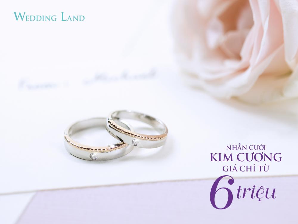 Nhận quà tặng khủng khi mua nhẫn cưới kim cương 6 triệu đồng