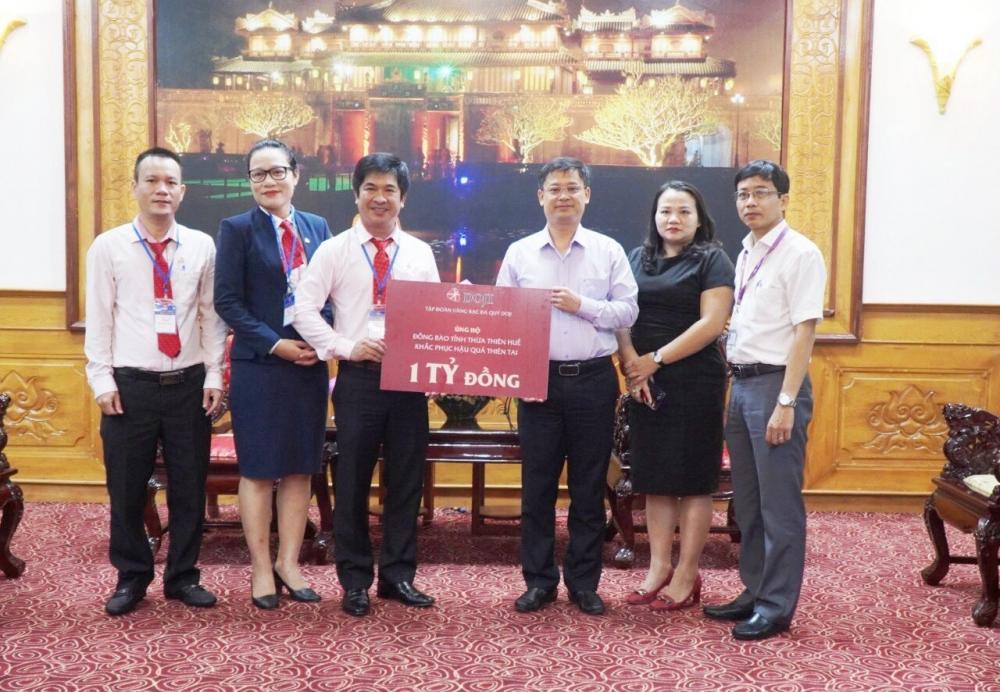 DOJI ủng hộ 1 tỷ đồng hỗ trợ đồng bào bị ảnh hưởng bởi lũ lụt tại Huế