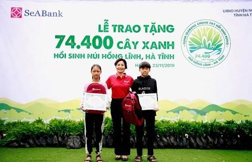 seabank trao tang 74400 cay xanh hoi sinh nui hong linh ha tinh