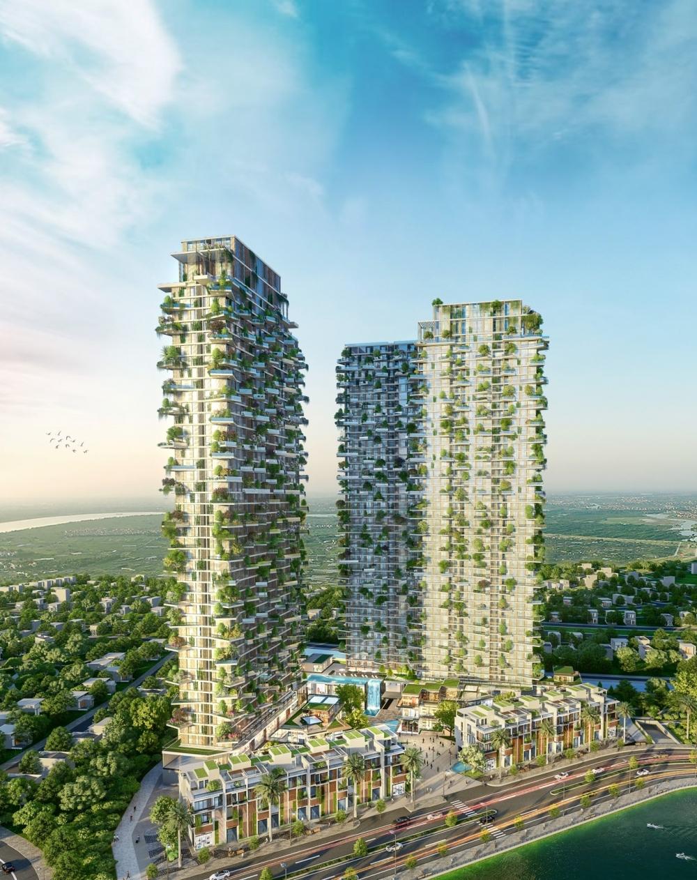 Tòa tháp xanh Sol Forest của Ecopark xuất hiện trên tạp chí Mỹ
