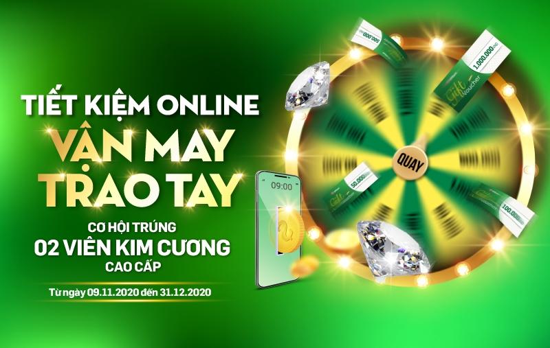 Gửi tiết kiệm ngân hàng trực tuyến trúng kim cương