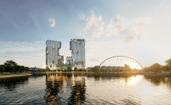 Ecopark triển khai tòa tháp đôi cao nhất Hải Dương