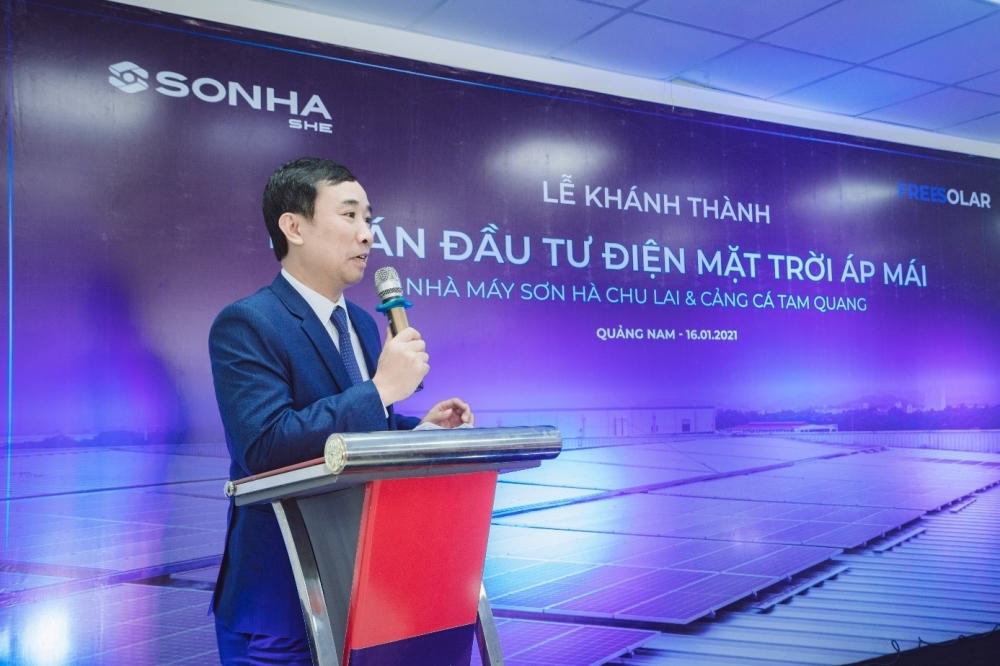Tập đoàn Sơn Hà hoàn thành đầu tư 02 dự án Lắp đặt hệ thống điện mặt trời áp mái tại Quảng Nam