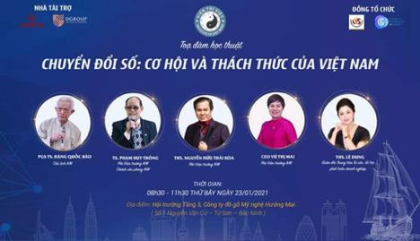 """Viện Trí Việt: """"Toạ đàm Chuyển đổi số, cơ hội và thách thức của Việt Nam"""""""
