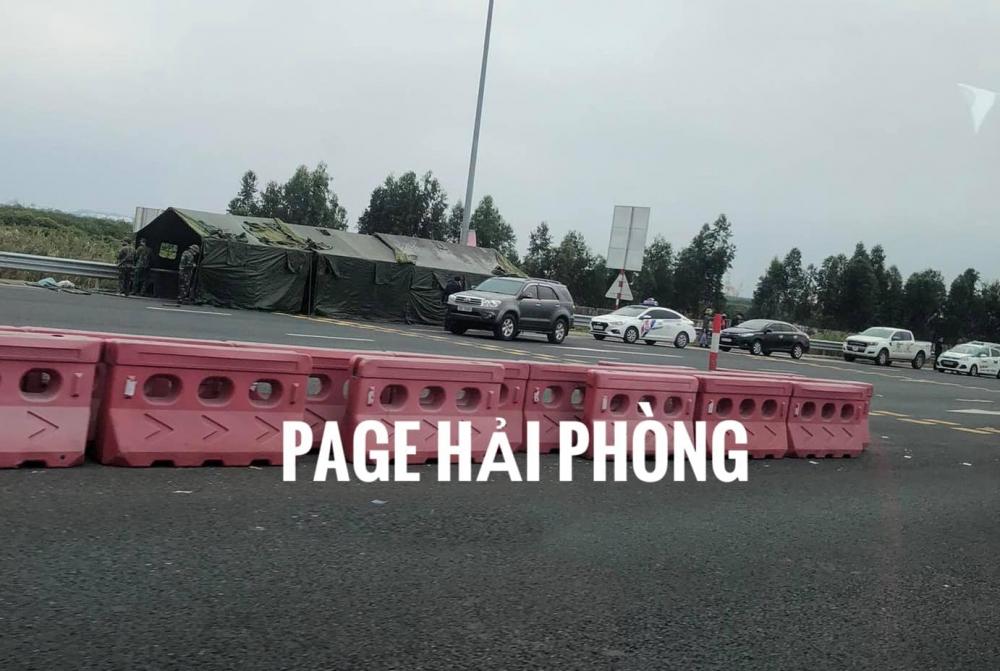 Lực lượng chức năng bắt đầu thiết lập chốt kiểm soát tại cầu Bạch Đằng