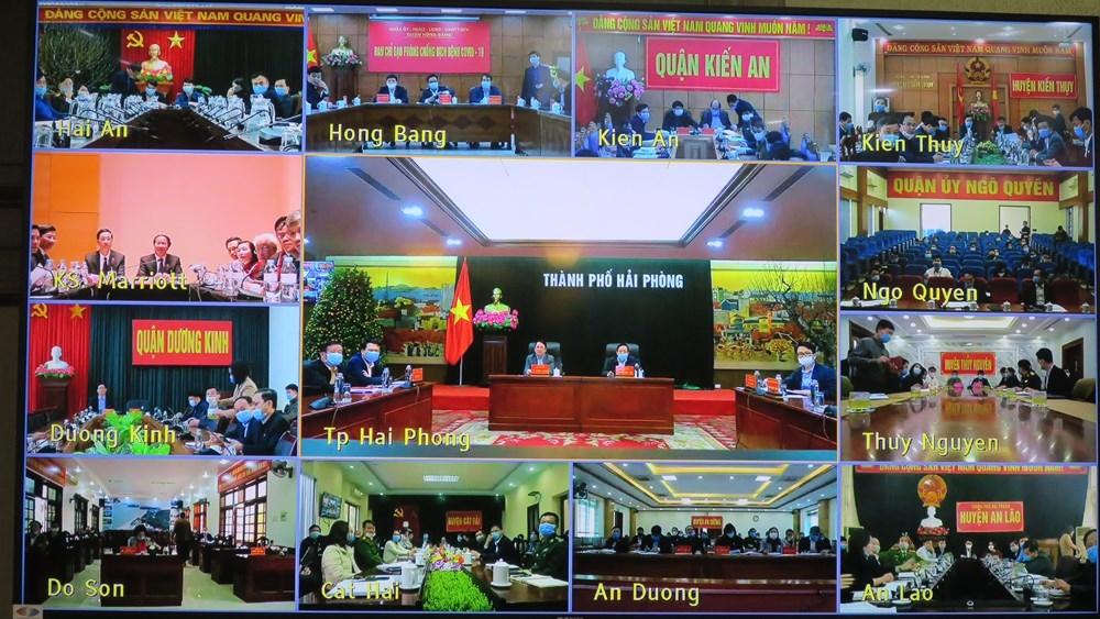 Ban Thường vụ Thành ủy Hải Phòng họp trực tuyến với các địa phương về công tác phòng chống dịch Covid-19