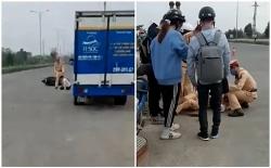 """Hàng chục thanh niên """"thông chốt"""" khiến CSGT bị thương"""