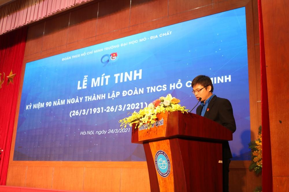 Bí thư Đoàn trường Đại học Mỏ - Địa chất Nguyễn Thanh Tuấn