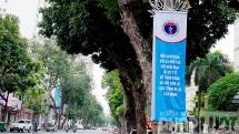 """Thủ đô Hà Nội ngập tràn thông điệp """"chống dịch như chống giặc"""""""