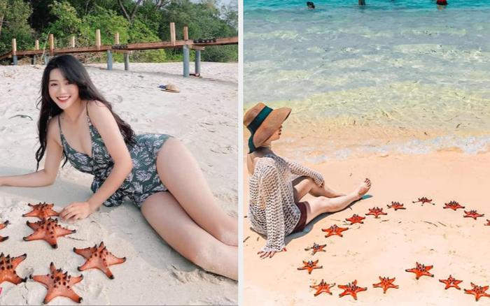 """Loạt sao Việt bị """"đào lại"""" ảnh chụp với sao biển sau sự việc ở Phú Quốc"""