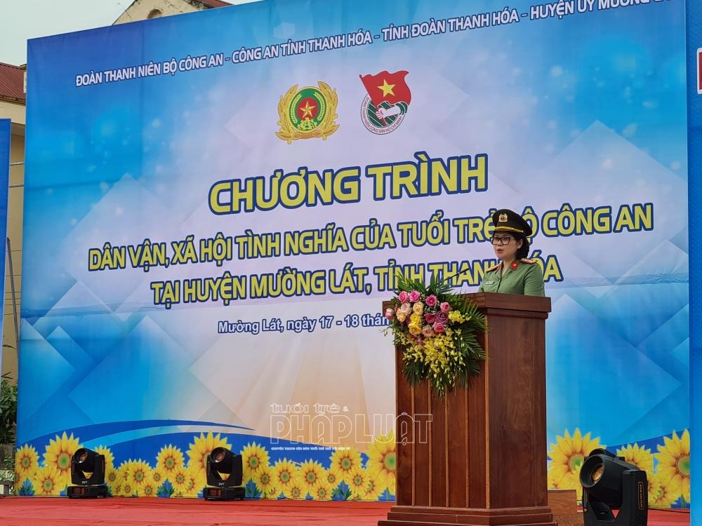 Đại tá Ngô Hoài Thu, Phó Cục trưởng ghi nhận, biểu dương và đánh giá cao Ban Thường vụ Đoàn Thanh niên Bộ Công an