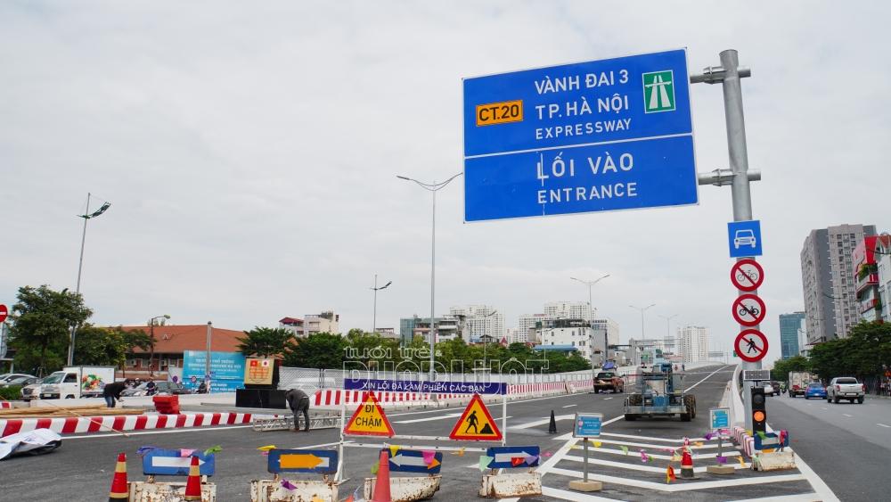 Tạm cấm phương tiện di chuyển trên cầu cạn đường Vành đai 3