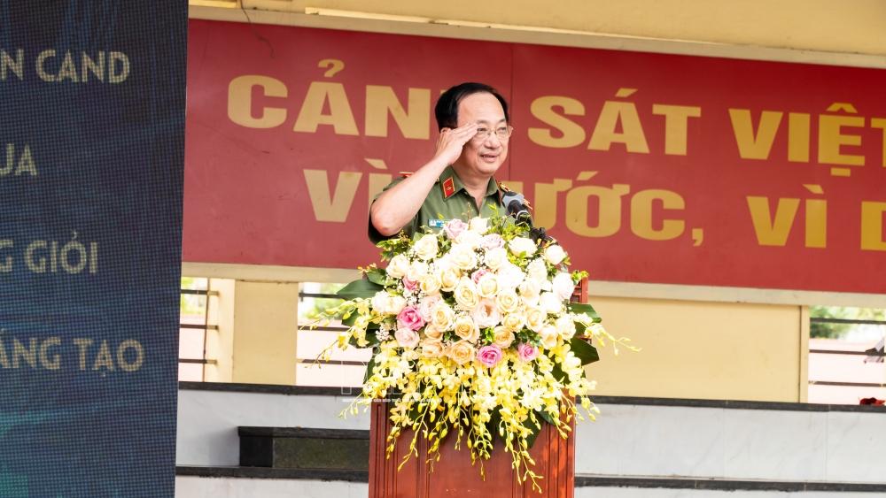 Thứ trưởng Bộ Công an Nguyễn Văn Thành phát biểu tại buổi lễ
