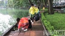 16 thi sinh tai sac ngan hang 2019 tham gia lam sach bo ho hoan kiem
