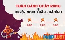 """Toàn cảnh rừng thông ở Hà Tĩnh bị """"giặc lửa"""" nuốt trọn"""