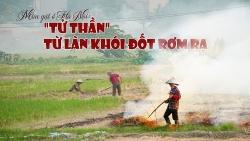 """Mùa gặt ở Hà Nội: """"Tử thần"""" từ làn khói đốt rơm rạ"""