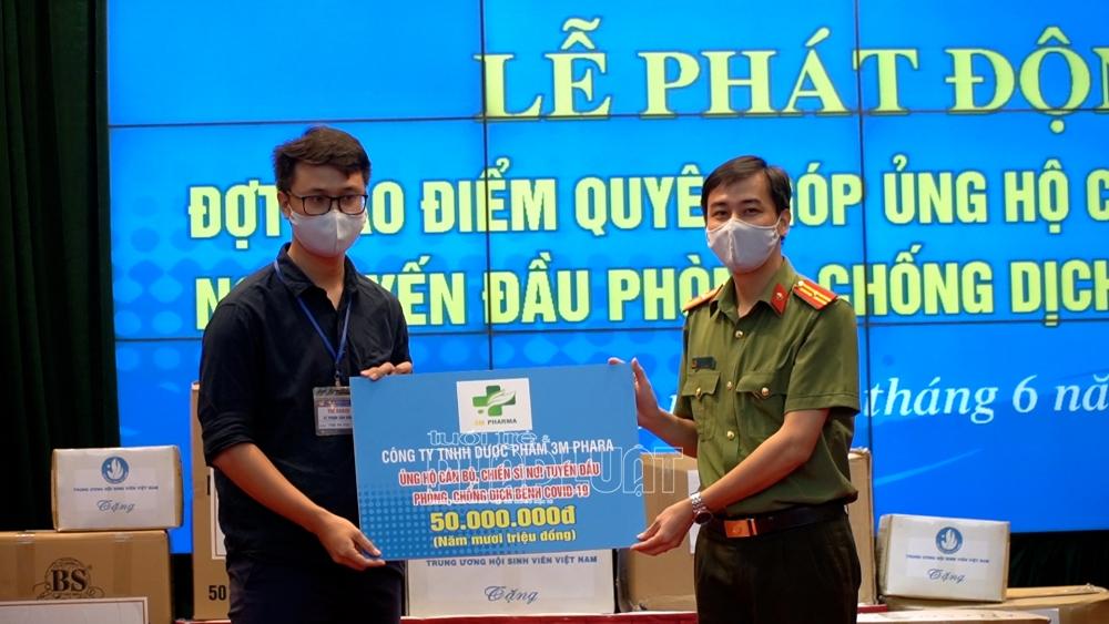 Tuổi trẻ Công an Nhân dân đồng hành cùng cán bộ, chiến sĩ tuyến đầu chống dịch