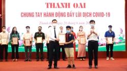 Thiếu nhi huyện Thanh Oai đập lợn đất ủng hộ Quỹ Vắc xin phòng chống Covid-19