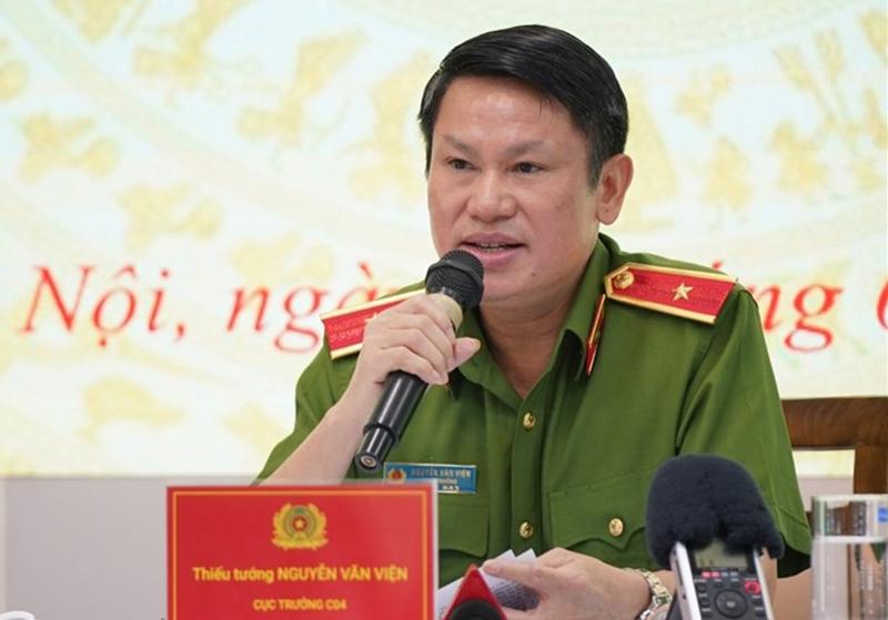 Thiếu tướng Nguyễn Văn Viện - Cục trưởng C04, Bộ Công an thông tin về công tác điều tra, triệt phá các ổ nhóm buôn bán ma tuý