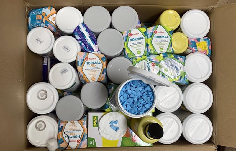 Ma tuý cất giấu trong các thùng hàng được gửi từ châu Âu về Việt Nam