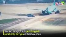 o to chay cat dau may bay phi cong phanh gap tranh va cham