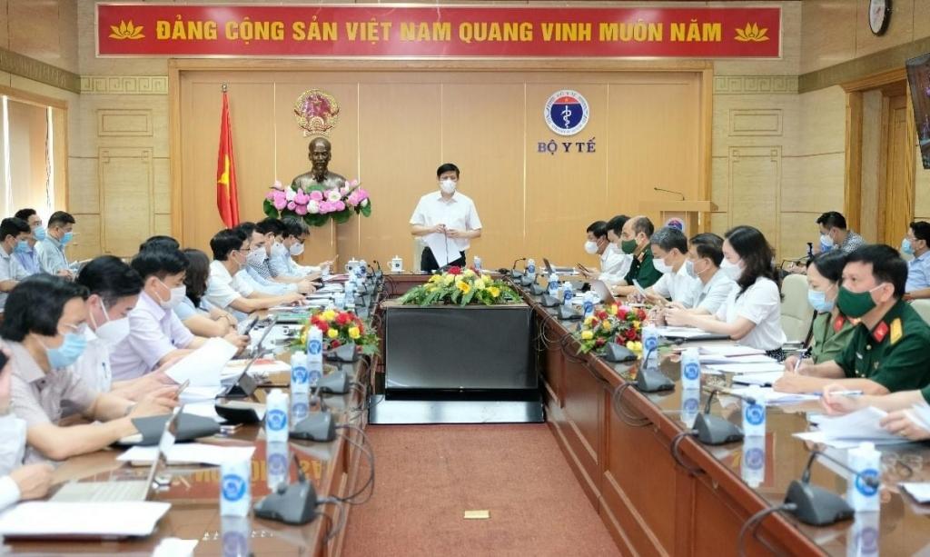 Bộ trưởng Nguyễn Thanh Long phát biểu tại cuộc họp