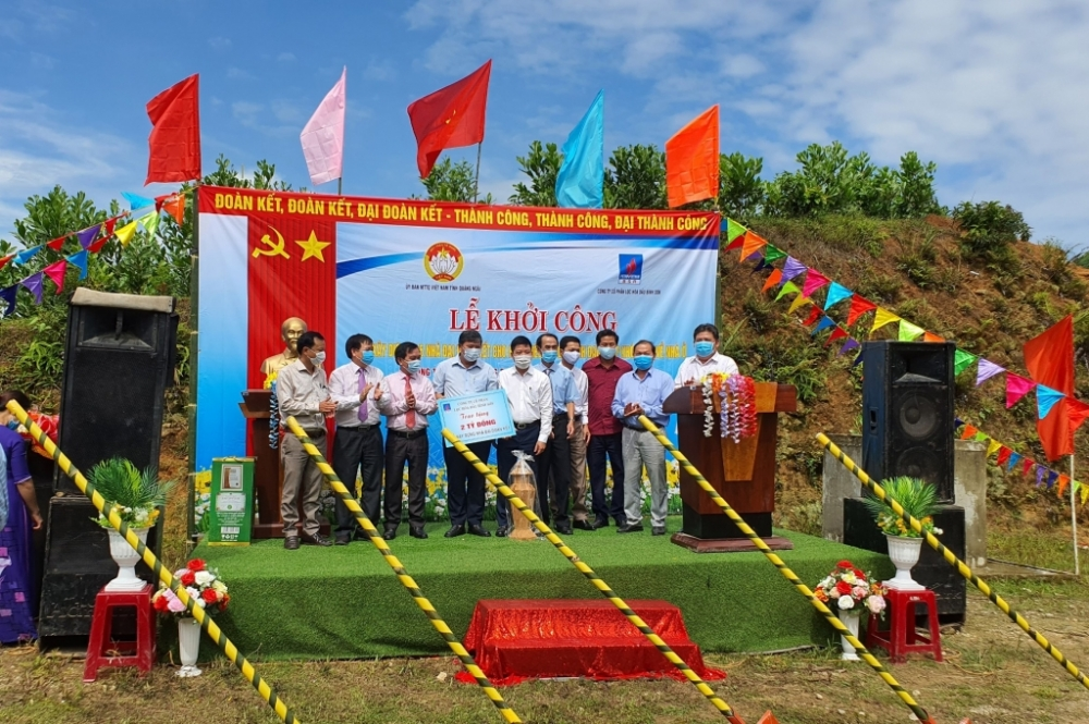BSR tài trợ 2 tỷ đồng xây dựng nhà Đại đoàn kết tặng nhân dân Quảng Ngãi