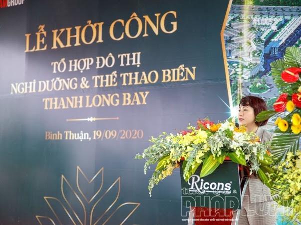 Bà Vũ Thị Như Mai – Phó Chủ tịch HĐQT Nam Group phát biểu tại buổi lễ