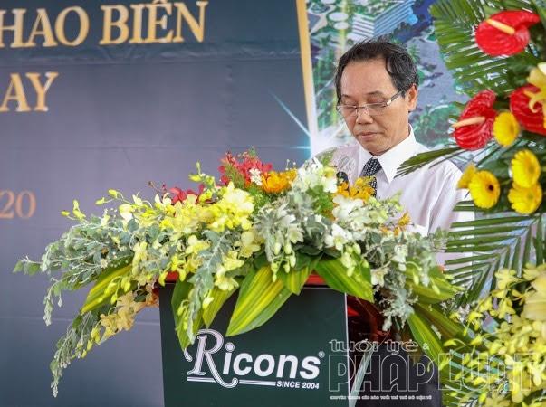 Ông Nguyễn Đức Hoà – Phó Chủ tịch UBND tỉnh Bình Thuật phát biểu tại buổi lễ.