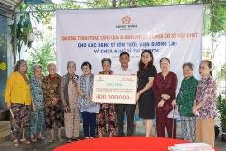 Tập đoàn Hưng Thịnh mang yêu thương đến viện dưỡng lão nghệ sĩ và chùa nghệ sĩ tại TP HCM
