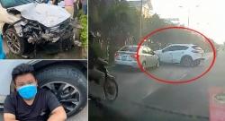 """Thiếu niên lái """"xe điên"""" gây tai nạn liên hoàn ở Sơn Tây"""