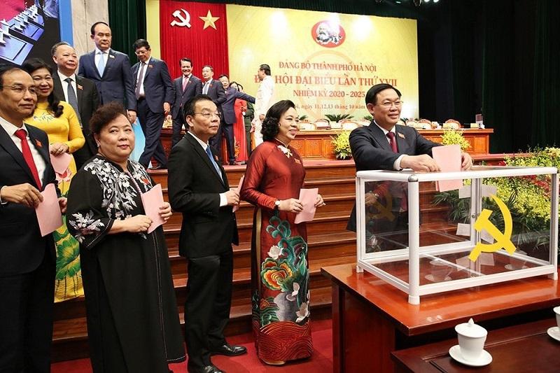 Đại hội bầu Ban Chấp hành Đảng bộ TP Hà Nội khóa XVII