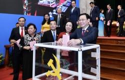 Đồng chí Vương Đình Huệ tiếp tục được bầu làm Bí thư Thành ủy Hà Nội khóa XVII với số phiếu tuyệt đối