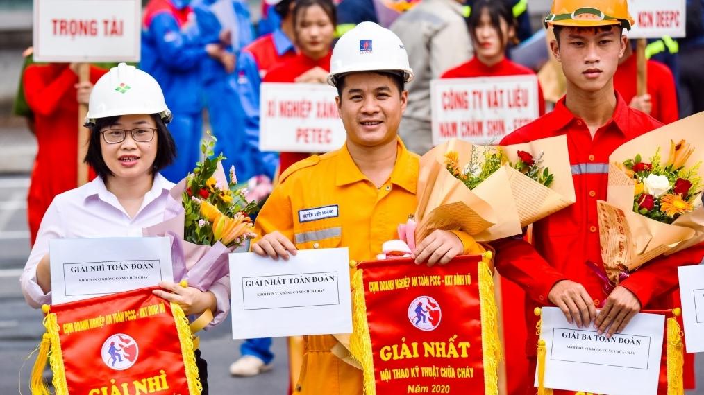 Chi nhánh Khí Hải Phòng giải Nhất toàn đoàn tại Hội thao PCCC Khu kinh tế Đình Vũ