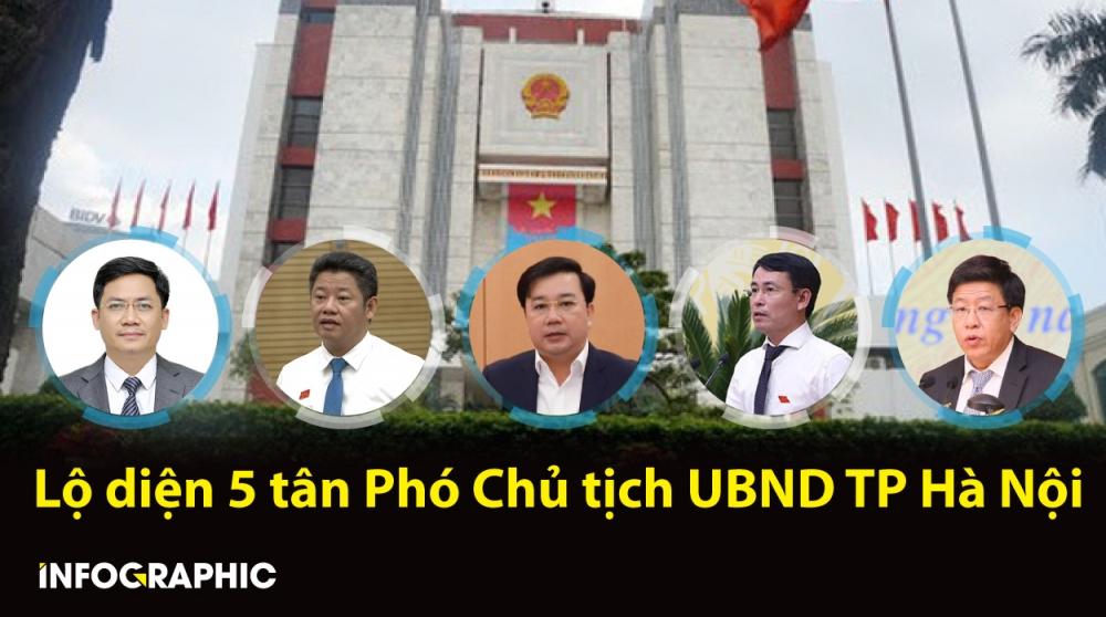 Chân dung 5 tân Phó Chủ tịch UBND TP Hà Nội