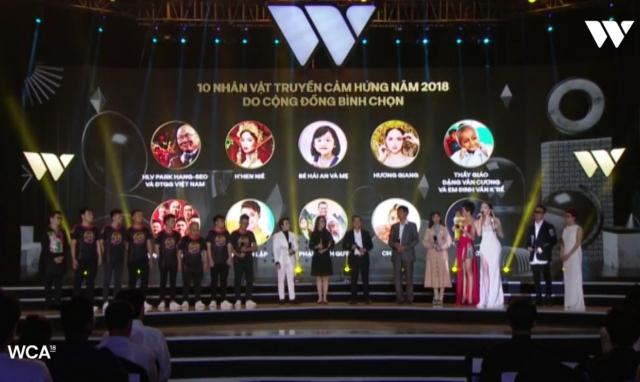Trao giải thưởng WeChoice Awards 2018 cho 5 nhân vật truyền cảm hứng