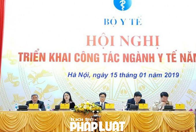 Bộ trưởng Nguyễn Thị Kim Tiến tại Hội nghị triển khai công tác ngành y tế năm 2019