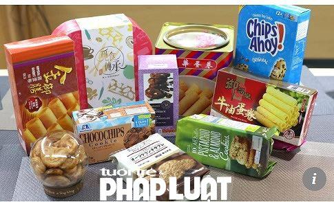 Các mẫu bánh kẹo mà Hiệp hội người tiêu dùng Hong Kong kiểm tra lần này đã cho kết quả giật mình. (Ảnh Tiền Phong)