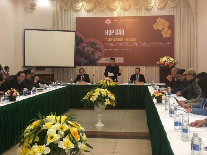 UBND tỉnh Bắc Giang họp báo công bố các hoạt động Tuần Văn hóa- Du lịch Bắc Giang 2019.