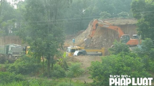 Đất tặc hoạt động công khai giữa ban ngày tại huyện Tân Yên