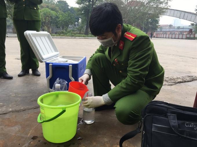 Kiểm tra đột xuất và lấy mẫu xả thải tại Cty CP tập đoàn Hanaka Bắc Ninh