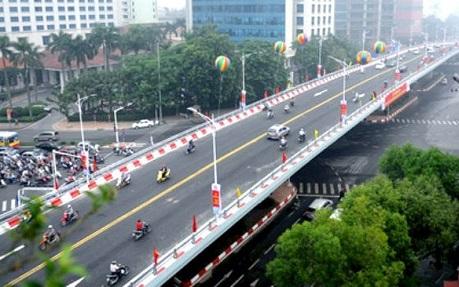 Cầu vượt An Dương - đường Thanh Niên đã hoàn thành đúng tiến độ, đảm bảo chất lượng