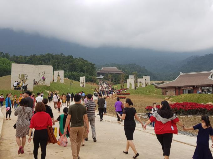 Khung cảnh sáng nay tại Tây Yên Tử