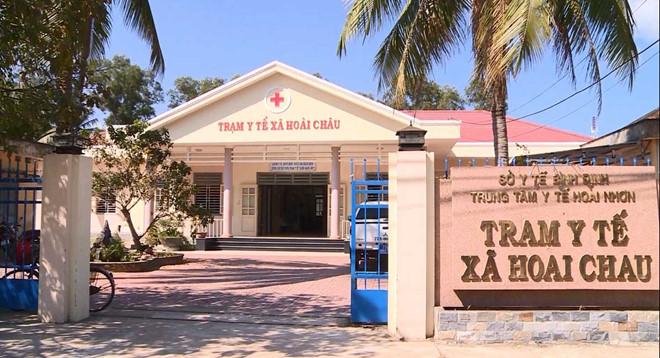 Trạm y tế xã Hoài Phú, nơi cháu P.N.B.T. tiêm chủng vắc xin ComBE Five sáng 26/2  ẢNH: HOÀNG TRỌNG