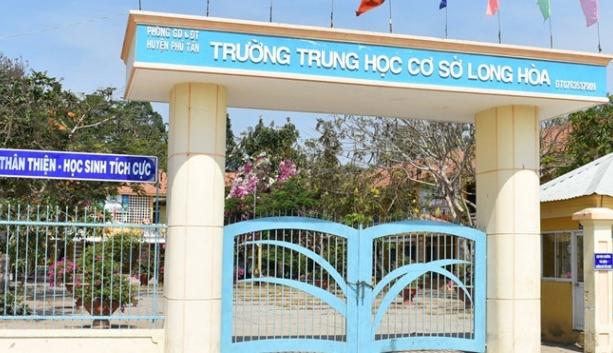 Trường THCS Long Hòa - nơi xảy ra vụ giáo viên đánh học sinh