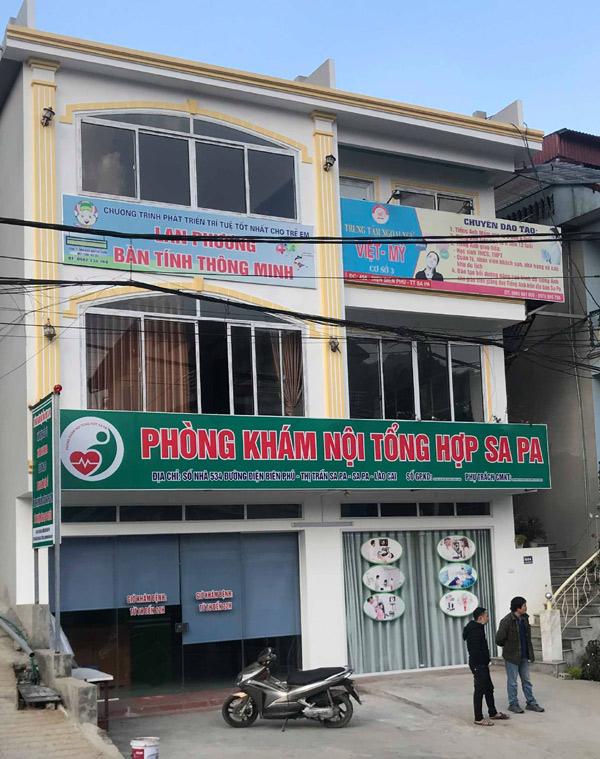 Phòng khám nội tổng hợp Sa Pa (534 Điện Biên Phủ, TT Sa Pa, Lào Cai) vẫn đang hoạt động khi chưa có giấy phép