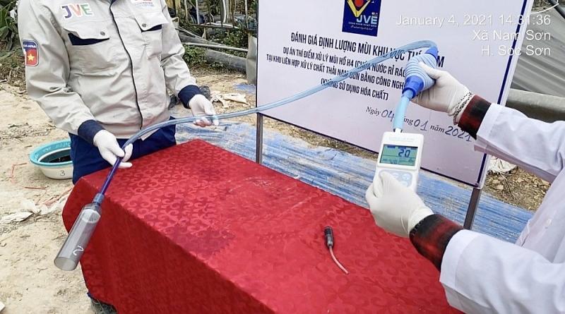 Kết quả sau 7 ngày thí điểm xử lý mùi tại bãi rác Nam Sơn bằng công nghệ Nhật Bản
