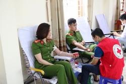 Thanh Hóa: Công an huyện Hoằng Hóa hiến máu tình nguyện