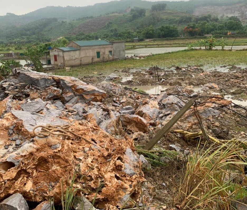 Hà Trung - Thanh Hóa: HTX Tân Sơn nổ mìn khai thác đá đe dọa tính mạng người dân